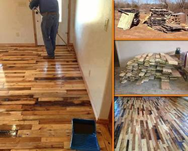 floor from pallets